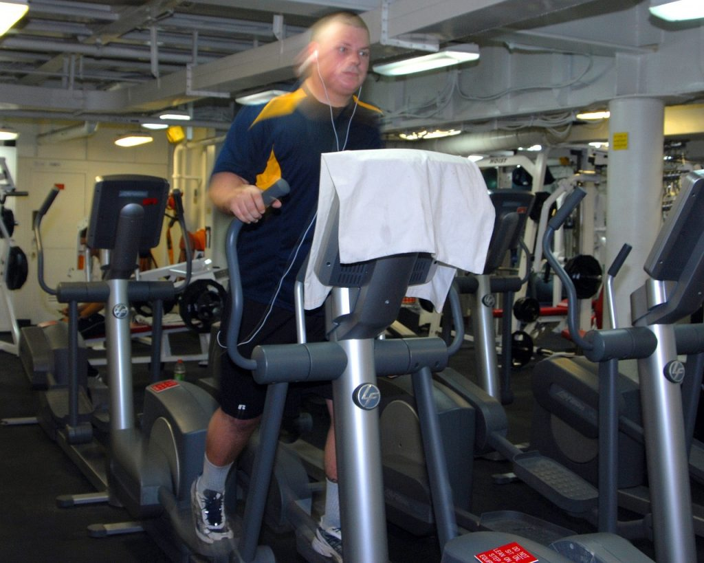 guy on elliptical