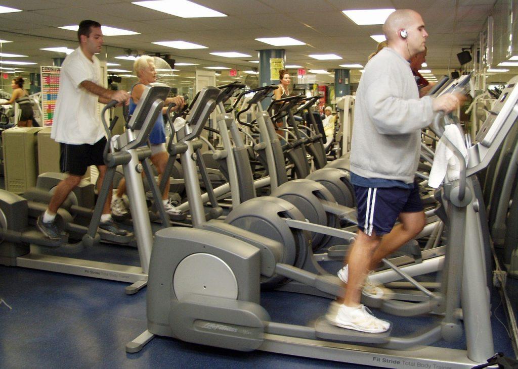 people on elliptical