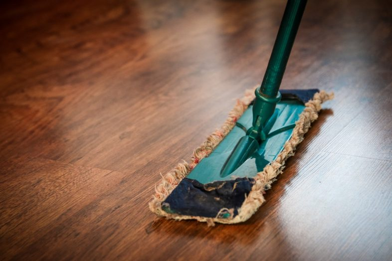 wooden surface cleaning